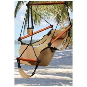 $29.95 Outdoor Indoor Hammock Hanging Chair Air Deluxe Swing Chair Solid Wood 250lb