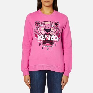 KENZO Women's Tiger Embroidered Sweatshirt - Bergonia - Free UK Delivery over £50