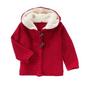 Toddler Girls Holly Red Toggle Cardigan by Gymboree