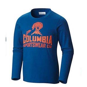 Boy's CSC Bear N' Fish Cotton Long Sleeve Graphic T Shirt