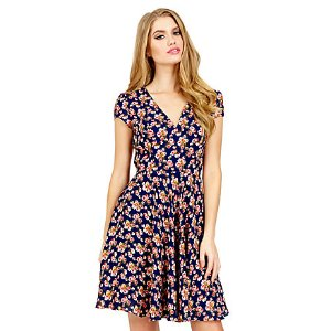 TINY FLOWERS SHORT SLEEVE DRESS