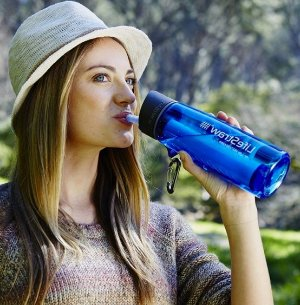 LifeStraw Go Bottle 2-Stage with Integrated 1, 000 Liter LifeStraw Filter and Activated Carbon