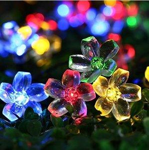 $6.99起Qedertek 花形50颗太阳能LED装饰灯串 多色可选