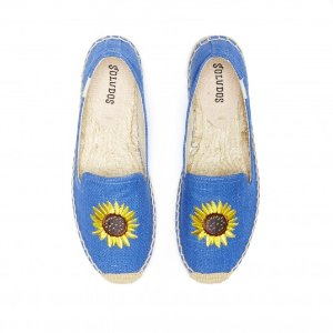 Soludos Sunflower Ultramarine Smoking Slipper for Women - Soludos Espadrilles