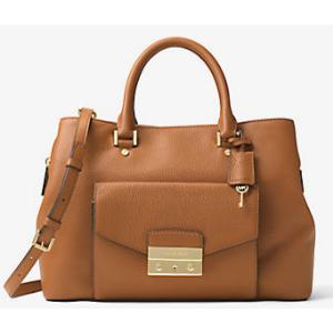 Haley Large Leather Satchel | Michael Kors