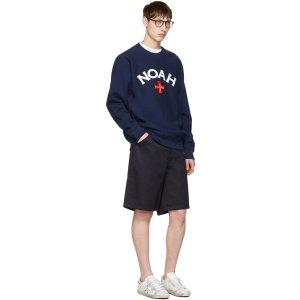 Noah: Navy Varsity Logo Sweatshirt