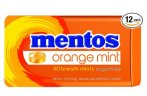 $9.58 Mentos Sugar-Free Breath Mints, Orange Mint, 1.27 Ounce (Pack of 12)
