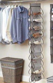 Better Homes and Gardens 20-Pocket Closet Organizer, Grey