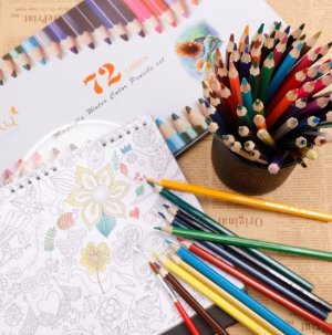 Lightning deal! $12.74 Magicfly 72-Colored Pencil Set Premier Soft Core Art Watercolor Pencil