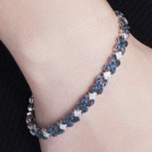 Tennis Bracelet with Blue Diamond