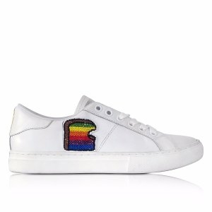 Marc Jacobs White leather Empire Toast Low Top Sneaker 36 (6 US | 3 UK | 36 EU) at FORZIERI