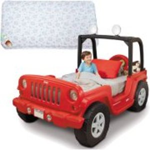 Jeep Toddler Bed and Value Mattress Bundle
