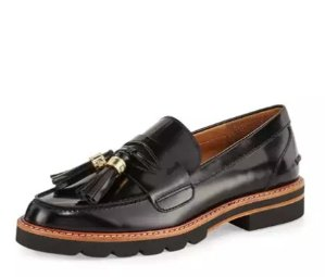 Up to $1200 Gift Card Stuart Weitzman Manila Leather Tassel Loafer @ Neiman Marcus