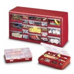 Stack-On DS-22B 22-Drawer Storage Cabinet with 2-10 Compartment Storage Boxes