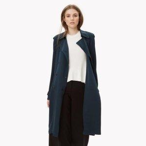 Theory Silk Trench Coat