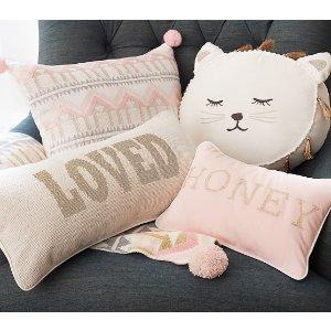 The Emily & Meritt Decorative Pillows   Pottery Barn Kids