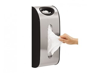$9.99 simplehuman Wall Mount Grocery Bag Dispenser