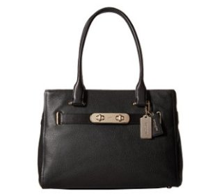 COACH Polished Pebble Leather New Swagger