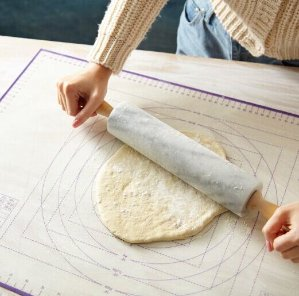 17.99 BakeitFun Large Silicone Pastry Mat With Measurements, 26 x 18 Inches