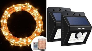 SALE Mpow LED and Solar Lights
