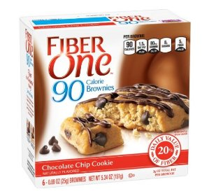 $2.09 Fiber One 90 Calorie Soft-Baked Bars Chocolate Chip Cookie, 5.34 oz, 6 Count