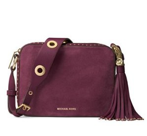 MICHAEL Michael Kors Brooklyn Large Grommeted Suede Camera Bag @ Lord & Taylor