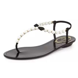 Rene Caovilla 珍珠凉鞋