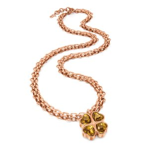 CHAIN ADDICTION NECKLACE Rose Gold Plated - 3N15T029RB