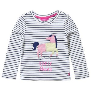 Joules Striped Horse in Shoes Applique Tee | AlexandAlexa