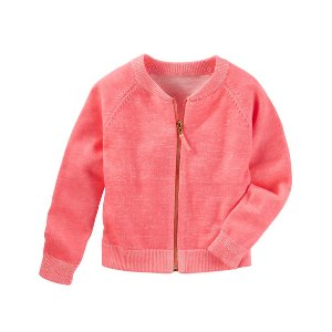 Baby Girl Raglan Sweater Cardi | OshKosh.com
