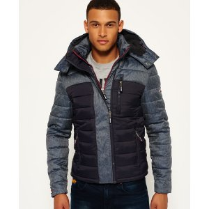 Superdry Fuji Mix Double Zip Hooded Jacket - Men's Jackets