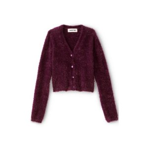 Girls Cozy V-Neck Cardigan from Lands' End