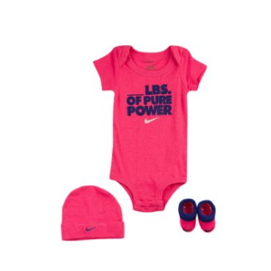 Nike 3 Piece Graphic Onesie Set - Girls' Infant - Casual - Clothing - Hyper Grape/Deep Night