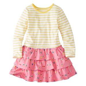 Girls Stripes Love Ruffles Dress | Girls Dresses