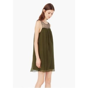 Chiffon appliqué dress