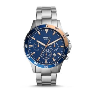 Crewmaster Sport Chronograph Stainless Steel Watch - Fossil