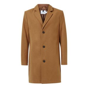Camel Wool Rich Overcoat - Men's Coats & Jackets - Clothing - TOPMAN USA