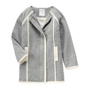 Girls Heather Grey Fleece Jacket by Gymboree