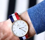 $79.99 Daniel Wellington Classic Cambridge Eggshell White Dial NATO Strap Men's Watch 0103DW