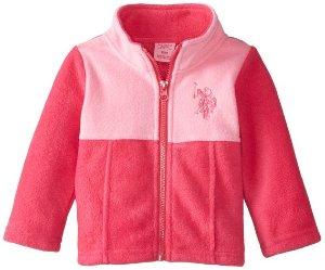 Starting from $4.02 U.S. Polo Assn. Baby Girls' Mock-Neck Color-Block Polar Fleece Jacket