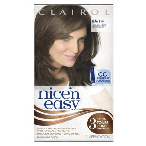 $1.64 + Free Shipping Clairol Nice 'n Easy Hair Color 6A 114 Natural Light Ash Brown 1 Kit (Pack of 3)