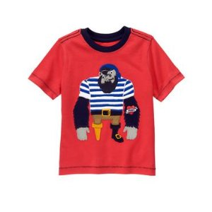 Toddler Boys True Red Gorilla Pirate Tee by Gymboree
