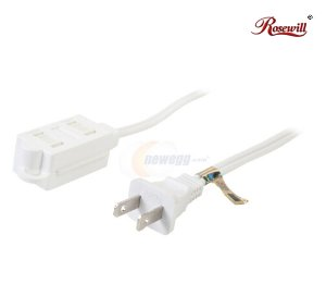 Free Rosewill Model RHEC-16WH3 3 Feet White 3-Outlet Designer Household Extension Cord