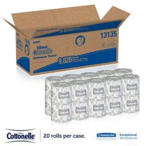 Kleenex Cottonelle Bulk 20 Individually Wrapped Toilet Paper
