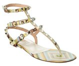 Valentino Rockstud Native Couture Leather Thong Sandal