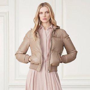 Ramona Leather Down Jacket - Coats � Coats & Trenches - RalphLauren.com
