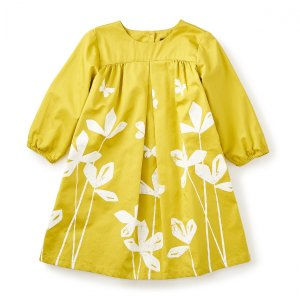 Yuzu Sateen Dress | Tea Collection