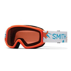 Smith Sidekick Youth Ski Goggles (Neon Orange Dinos Frame/RC36 Lens) | Focus Camera
