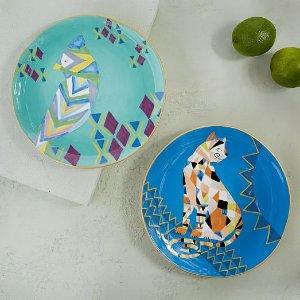 Deco Animal Salad Plates | west elm