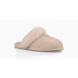 Women's Scuffette II Crystal Diamond Suede Slippers